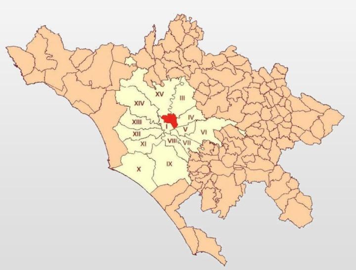 1-Comuni e Municipi nella CM di Roma