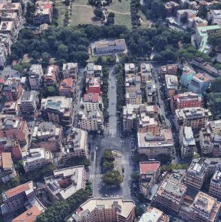 Piazza Vescovio e Villa Chigi